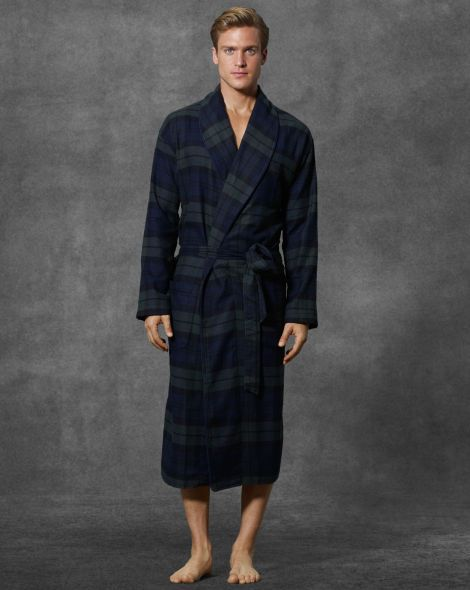 price up-to-date styling official photos Blackwatch Tartan Flannel Robe - Polo Ralph Lauren Sleepwear ...