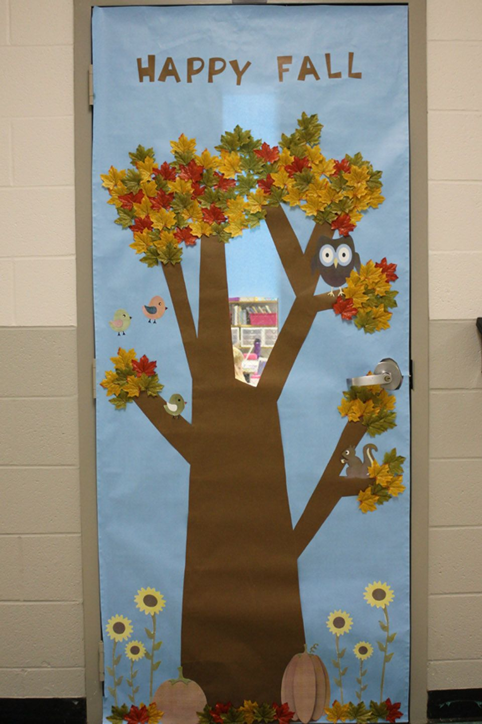 Fall decorations for classroom - Happy Fall Classroom Door Cover