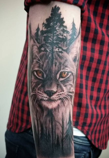 Wild Cat Tattoo Inkstylemag Big Cat Tattoo Cat Tattoo Cat Tattoo Designs