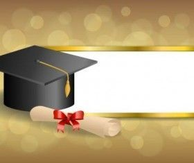 Photo of Graduation cap with diploma and golden abstract background 06 ,  #Abstract #Background #Cap #…