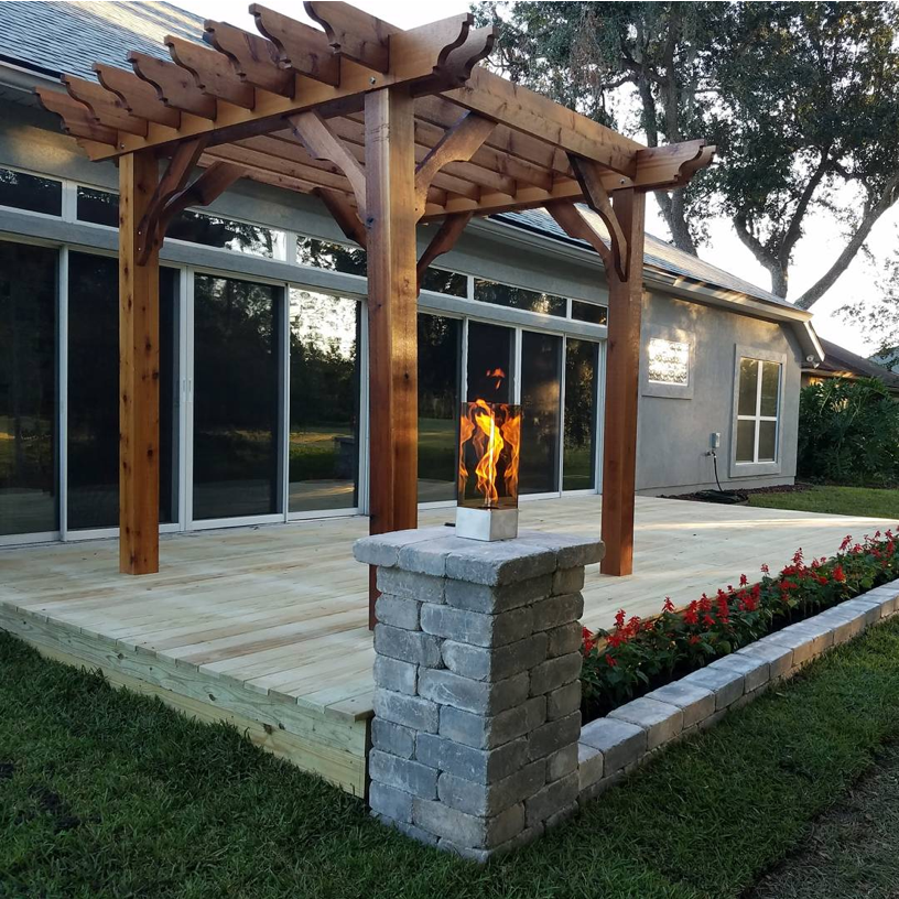 Thanks To Jared Taman For Sending In This Pic Of His New 10x10 Cedar Big Kahuna Pergola Looks Awesome Pergola Kits Pergola Wood Pergola