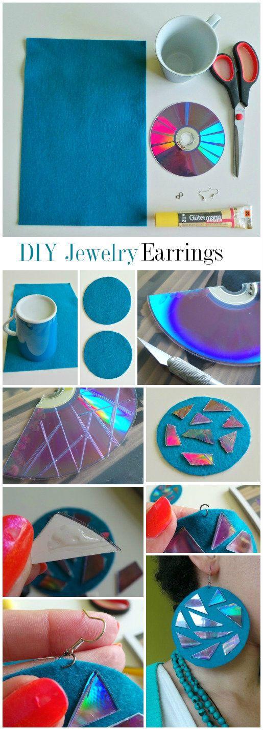 DIY Jewelry: Hologram (aka: cheap and shitty earrings)