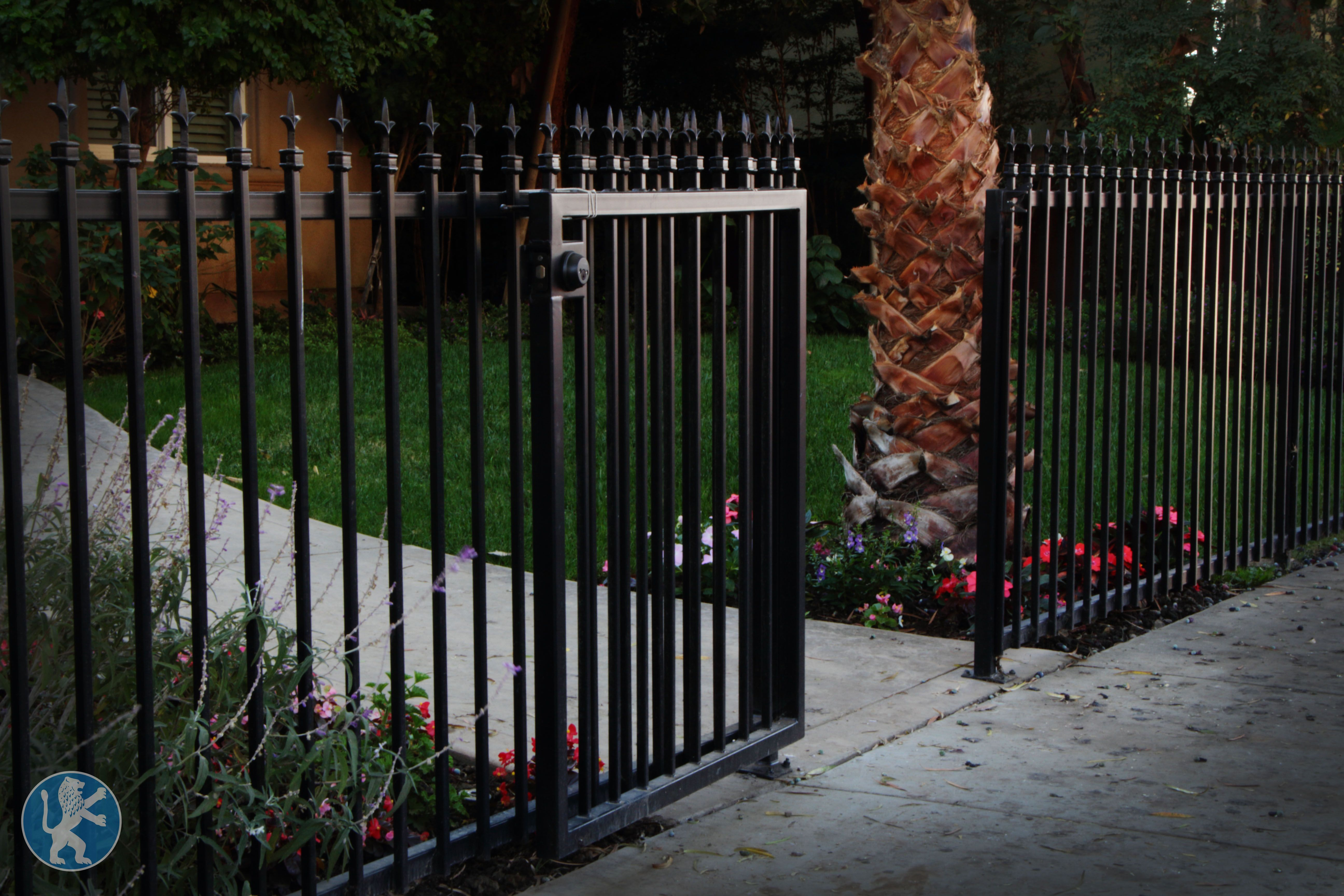 This Standard Iron Vertical Design Gate Is Equipped With