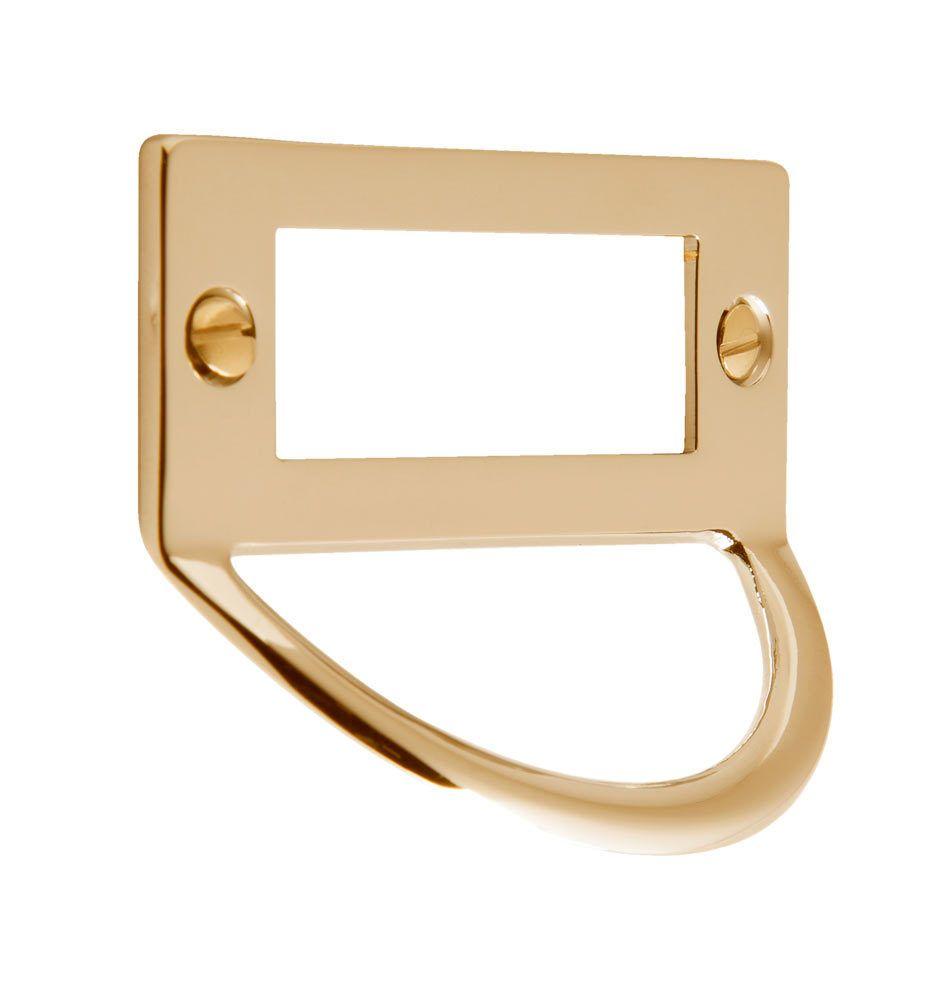 Brass Pull With Label Holder 3 Rejuvenation Brass Pulls Unlacquered Brass Brass