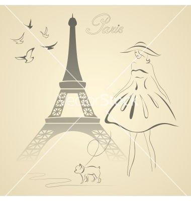 French retro style vector - by yulia_lavrova on VectorStock®