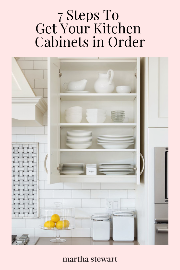 Organize Your Kitchen Cabinets In Nine Easy Steps Kitchen Cabinets Order Kitchen Cabinets Kitchen Decor