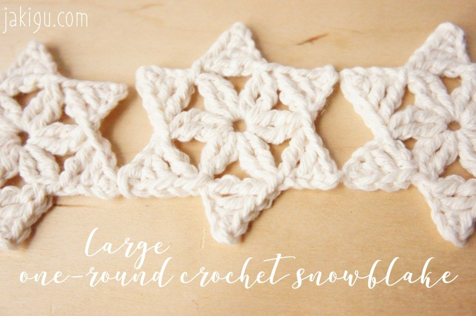 Quick & Easy Christmas Crochet Project - Free Snowflake Crochet ...