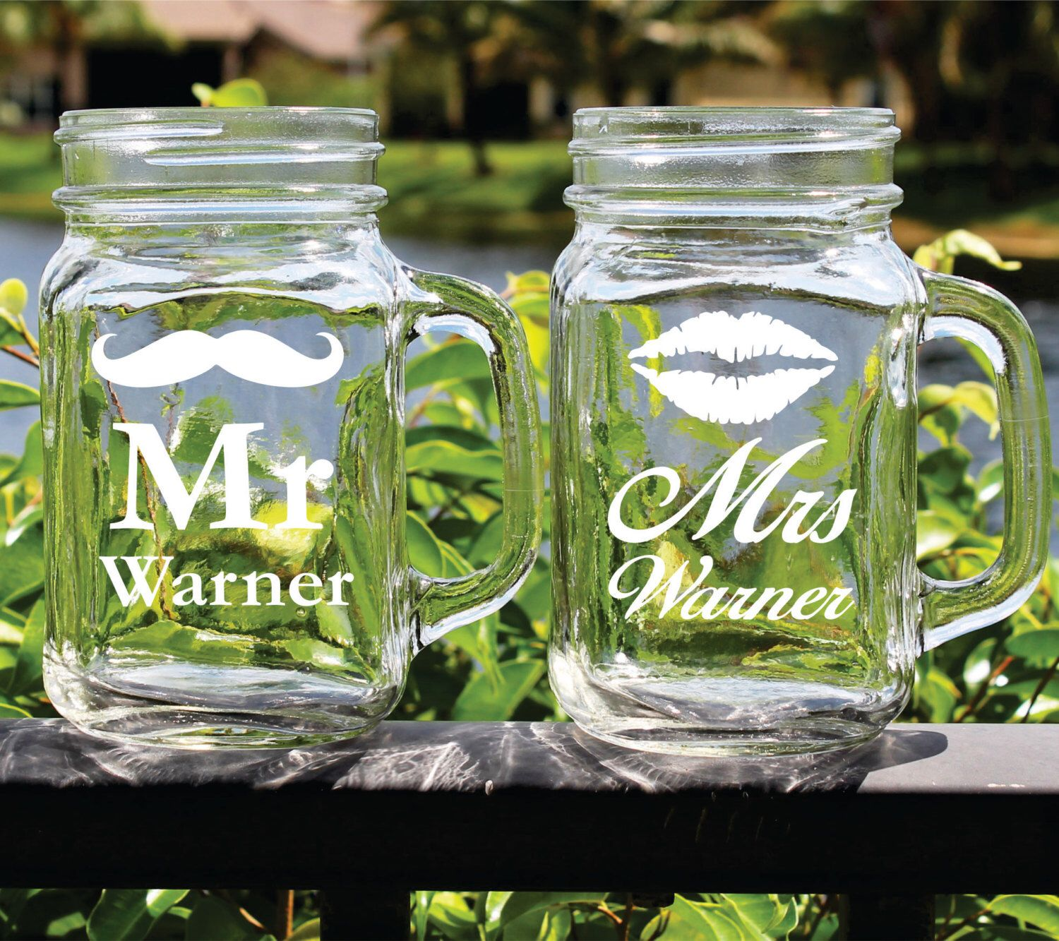 mr and mrs mason jar glasses personalized mason jars mr and mrs