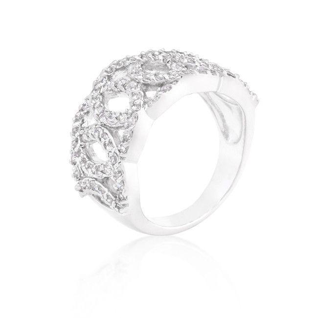 Cubic Zirconia Circular Ring