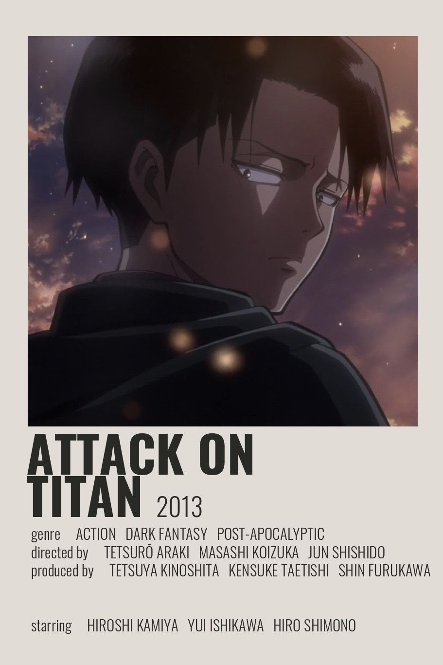 Attack on Titan Poster by Cindy