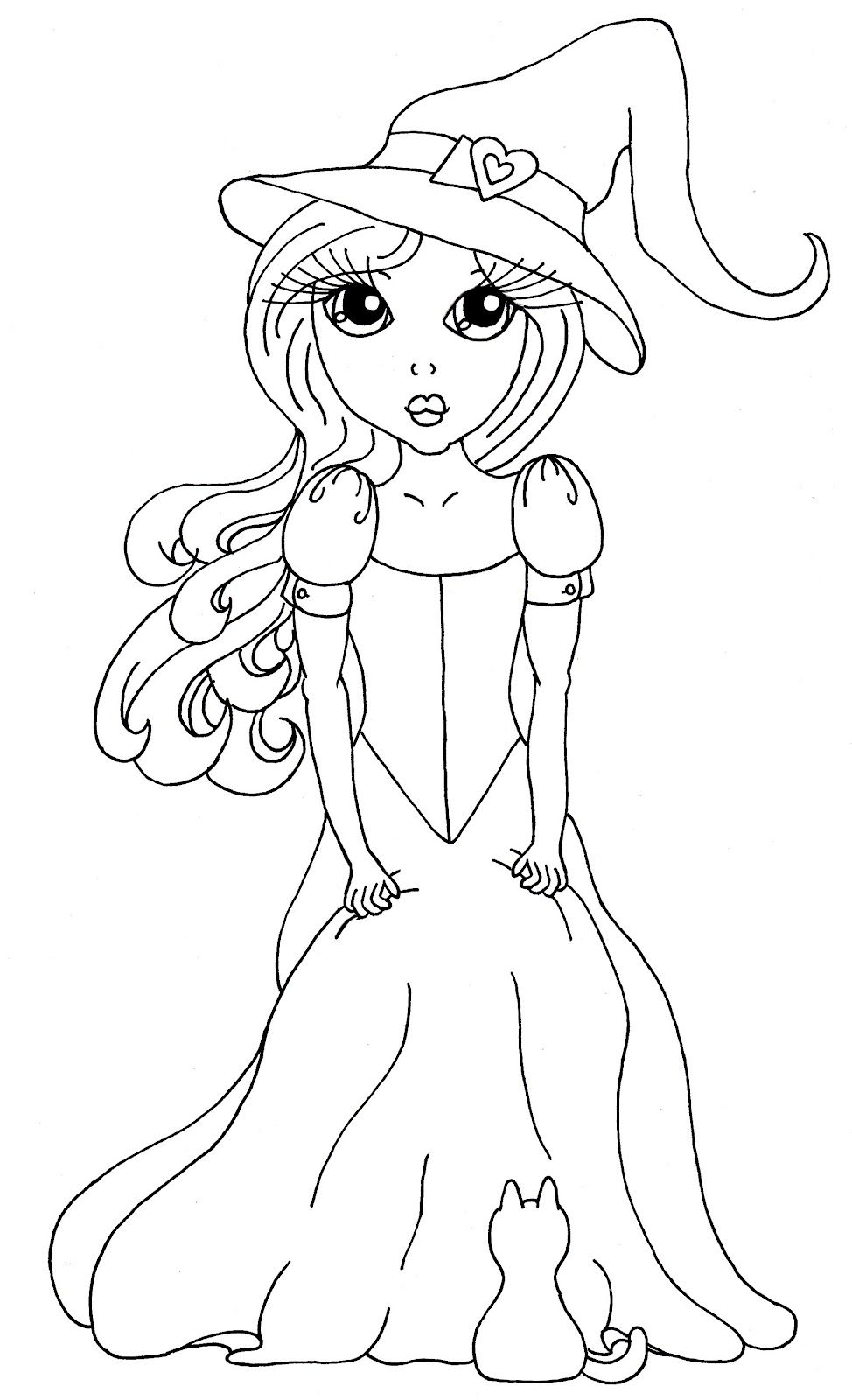 Cuddlebug Cuties Josephine The Stylish Witch Halloween Coloring Book Halloween Coloring Pages Colorful Drawings