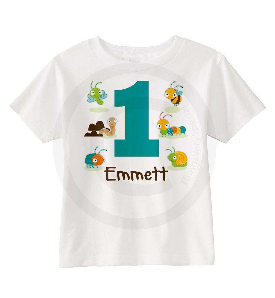 Bug Theme Birthday Shirt For Little Boys 09012014c