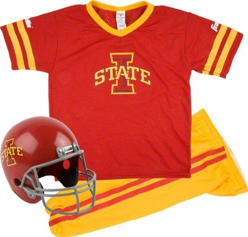 d2c0d92b8 Iowa State Cyclones Kids Youth Football Helmet And Uniform Set by Franklin.   49.99. This authentic Iowa State Cyclones Deluxe Football Team Uniform Set  is ...
