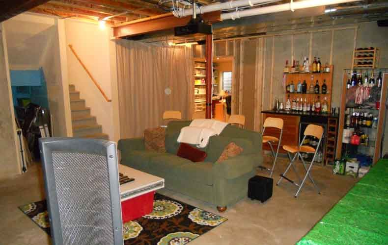 cheap decorating ideas for unfinished basements