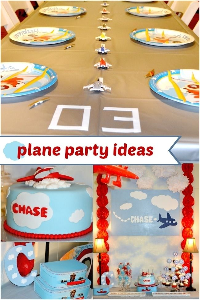 51 Best Airplane Party Ideas | Airplanes, Birthdays and Airplane party
