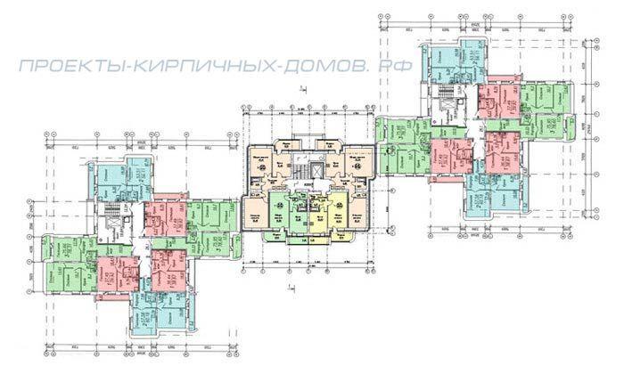 план многоэтажного жилого дома