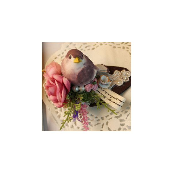 Princess'Garden原创手作首饰 可爱森系丛林小肥雀胸针 ($79) ❤ liked on Polyvore featuring home, outdoors, accessories, fabric flower, flowers, plants and flower stem