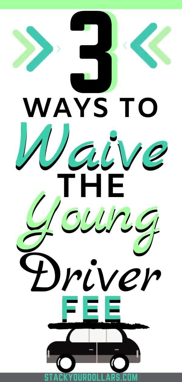 Here's a young driver tip that can save you money when you need to get a rental car! Learn how to save money on car rentals by ditching the underage car rental fee! If you are responsible and have done your duty to learn the rules of the road and how to drive responsibly, why should you have to pay extra just because you need to rent a car? Learn how you can avoid paying the young driver fee! #youngdriver #drivingtips #rentalcar #rentaltips #stackyourdollars #savemoney