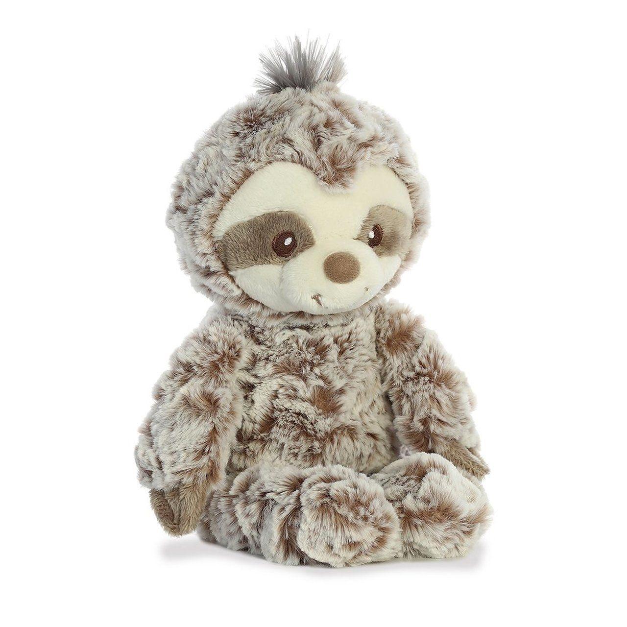 "Soft Cuddle Rattle Stuffed Toy For Newborns 10/"" Gray Baby Sloth Wild Life Plush"