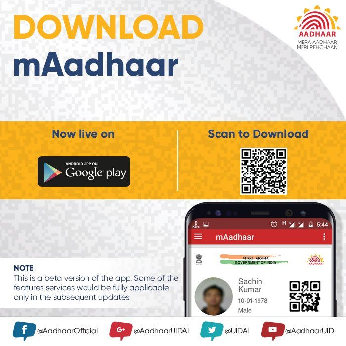 Twitter App, Aadhar card, Android