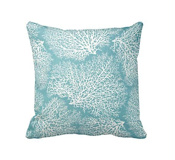 Reed Feather Straw Pillow Covers Are Handcrafted In The United States Each Throw Pillow Cover Is Made With 100 Blue Throw Pillows Coral Pillows Throw Pillows
