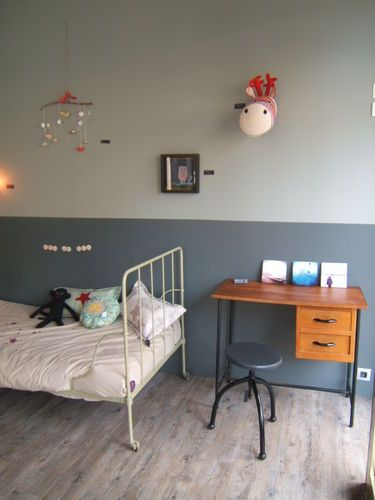 love the two colours on the wall Décoration KIDS Pinterest