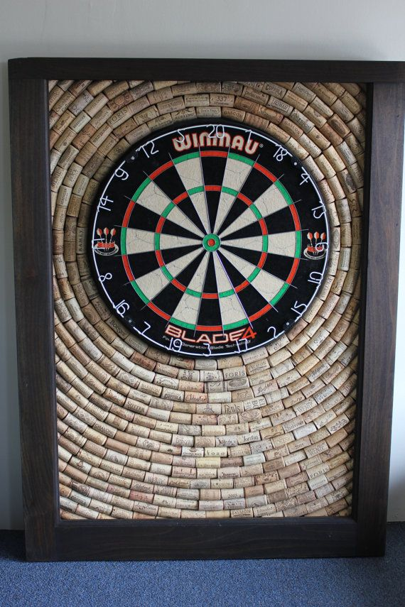Wine Cork Dartboard Backer Room Décor By Olddogoriginals