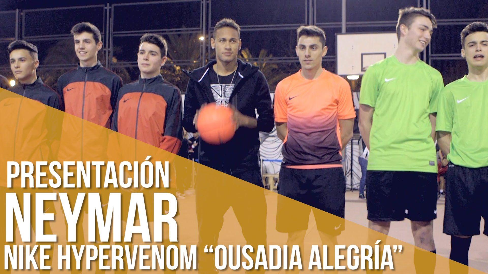 "Neymar presenta sus Nike Hypervenom ""Ousadia Alegría"""