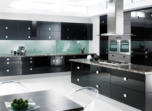 Modern Kitchen Cabinets Black kitchen : best examples of kitchen modeling endearing white black
