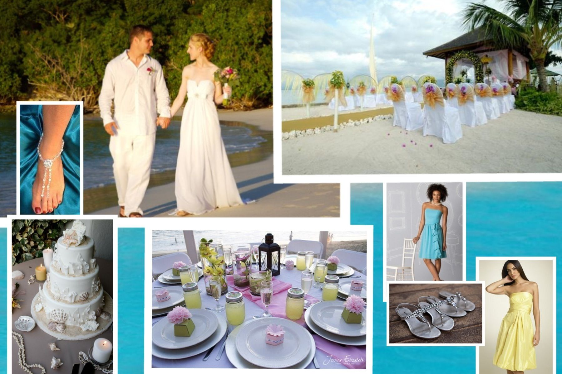 Beach Wedding Theme Simple And Colorful Wedding Stuff Pinterest
