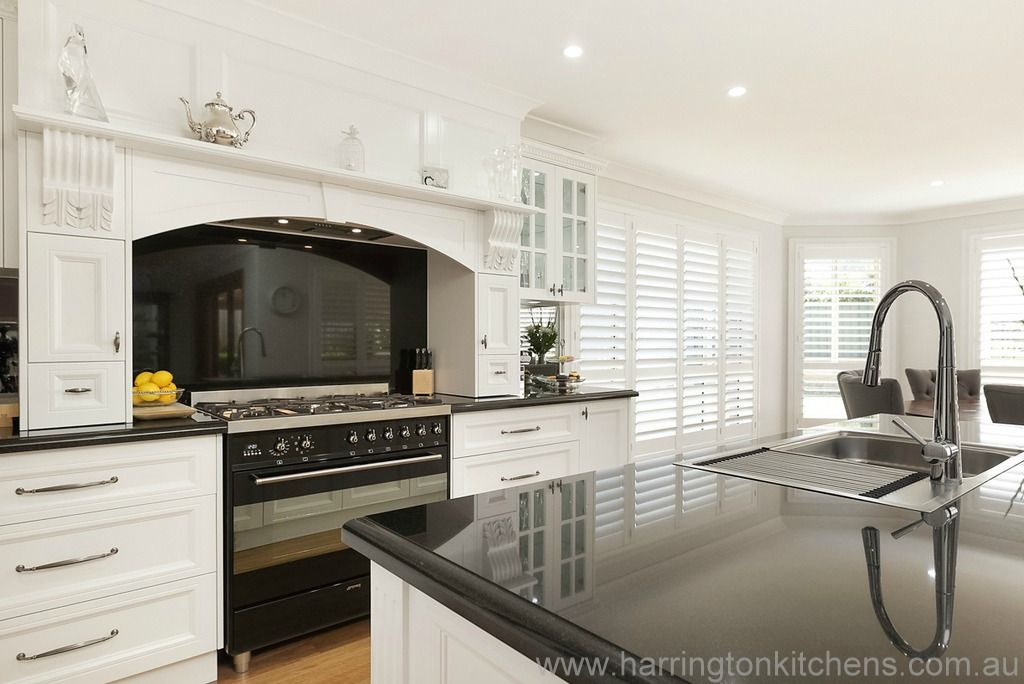White Kitchen Black Benchtop white kitchen with black benchtop - google search | kitchen ideas