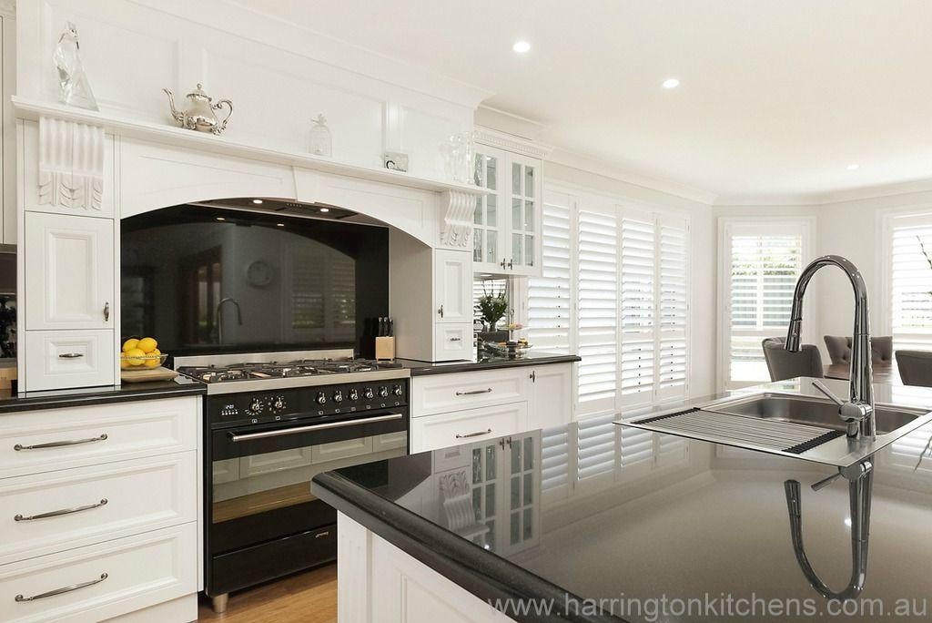 White Kitchen Black Benchtop white kitchen with black benchtop - google search | kitchen ideas