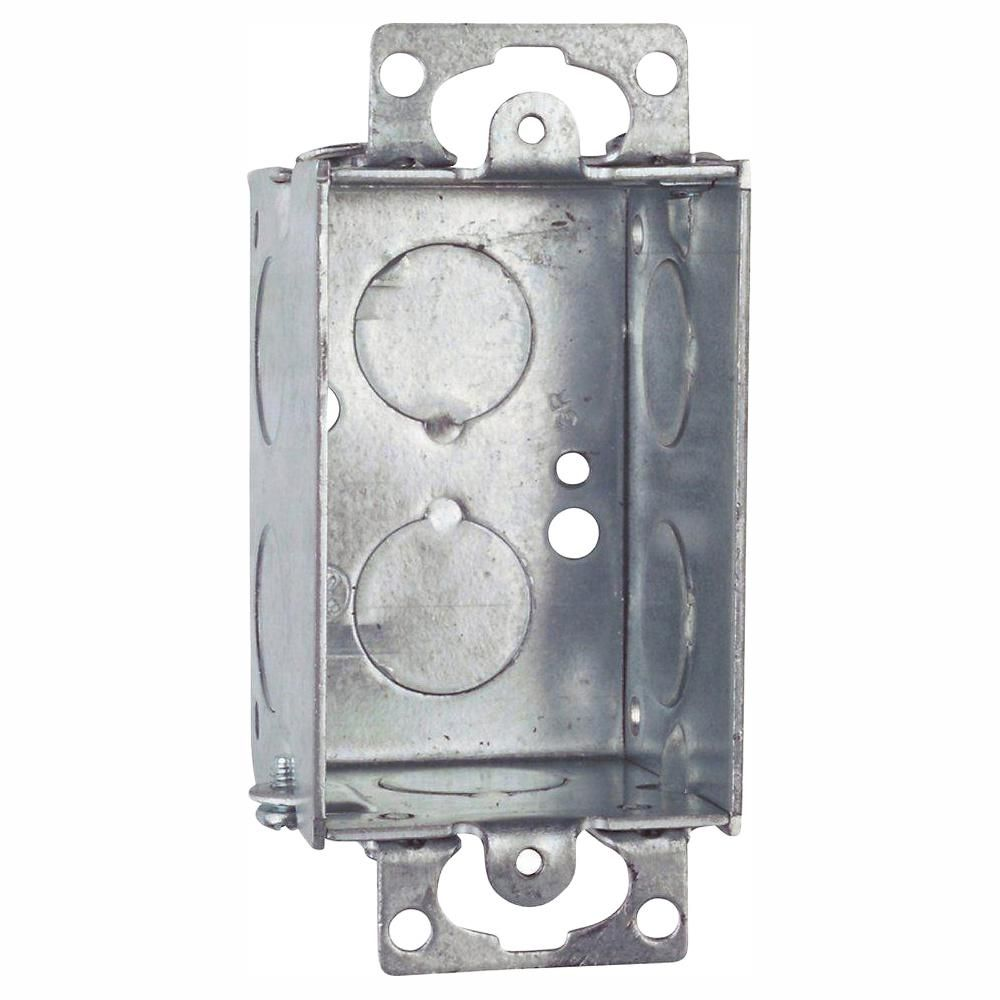 Steel City 1 Gang 10 Cu In Old Work Gangable Metal Switch Box Case Of 20 Steel Metal Conduit Box