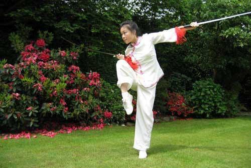 Wu shu double swords, nice, Jam should be doing like these moves