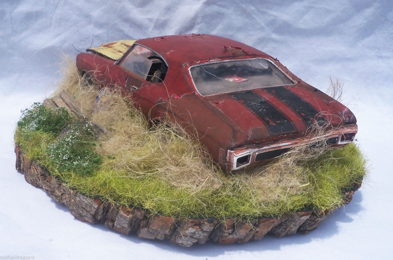 1970 Chevelle SS 454 Barn Find Weathered Pro Built Diorama AMT 1 25 Plastic OOAK