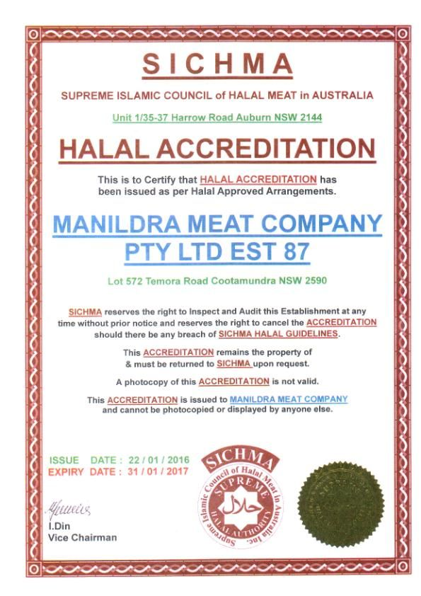 Manildra Meat Company Halal Accreditation | Gulfood | Bullet journal