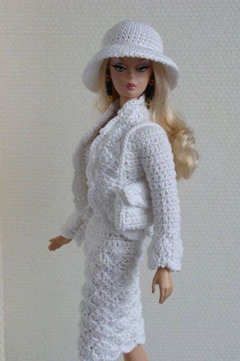 Barbie Vestidos Em Crochês Elegantes Pinterest Barbie