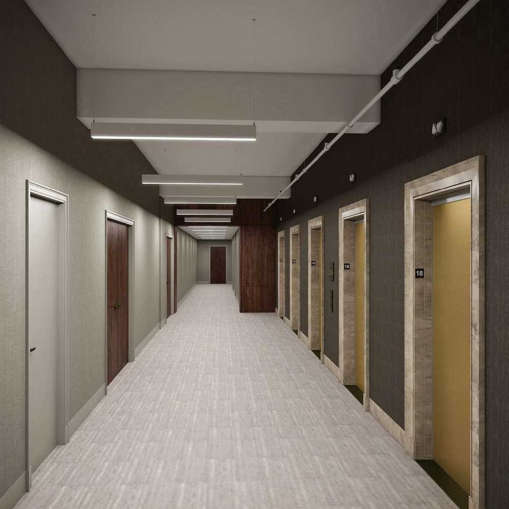 apartment building hallway design - Google Search in 25