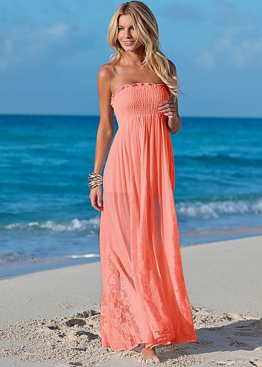 ccf97f3629fdb Move from the beach and beyond in three gorgeous colors! Venus lace  detailed maxi dress.