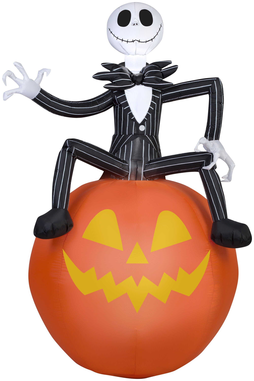 6\' Airblown Nightmare Before Christmas Jack on Pumpkin Halloween ...