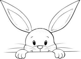 Lunzendes Kaninchen Osterhase Malen Ostern Zeichnung Hase Zeichnen