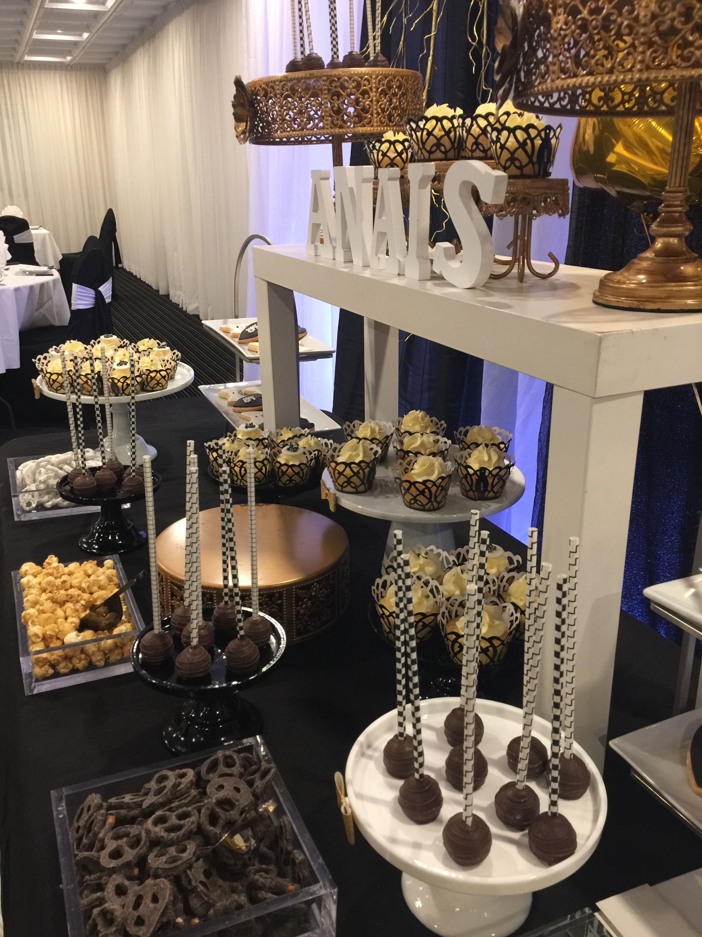 Sweet Sixteen Candy Bar Black White And Gold Theme