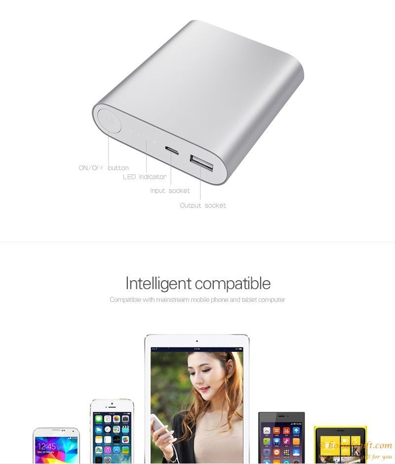 Aluminum alloy shell Mi 10,400 mA mobile power | Hot Sale Gift