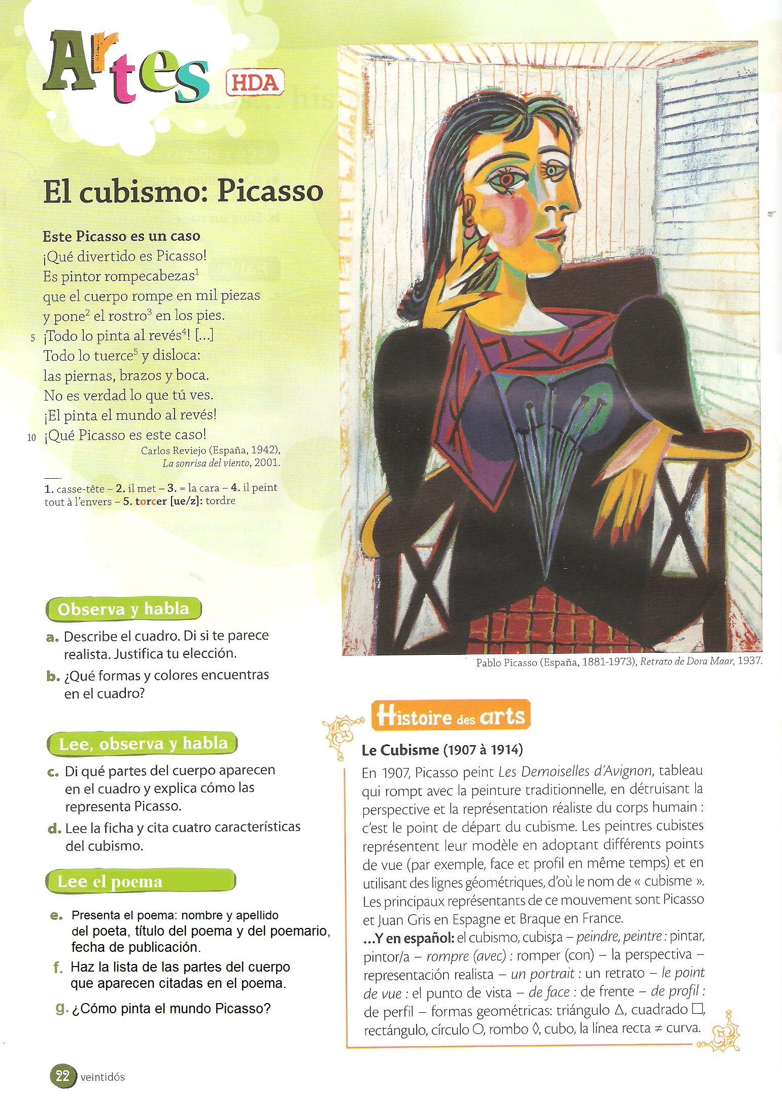 La Arte In Spanish Pin By Lorena Rasgado On Picasso Spanish Art Learning Spanish