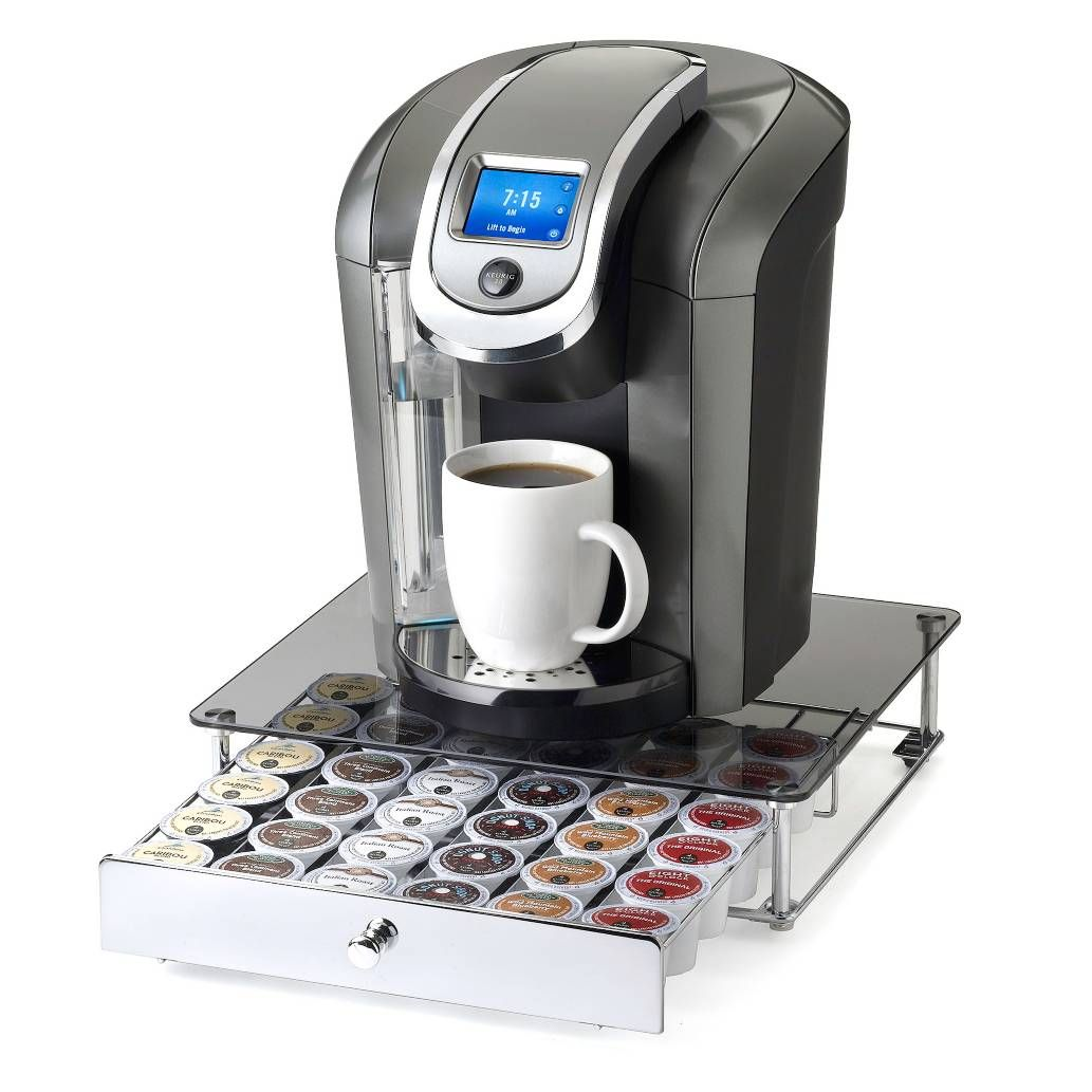 Product Image for Nifty™ Keurig® K-cup® 36-Capacity Glass-Top Rolling Drawer 1 out of 4