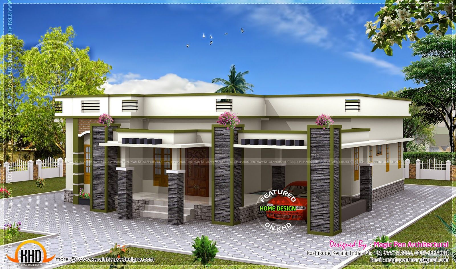 Single story flat roof house designs shed plans modern floor