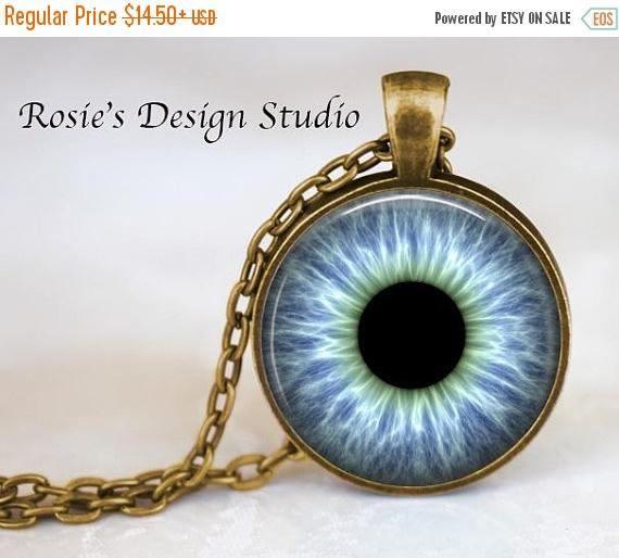 Blue human eye pendant necklace eyeball necklace blue eye blue human eye pendant necklace eyeball necklace blue eye pendant eyeball jewelry aloadofball Images