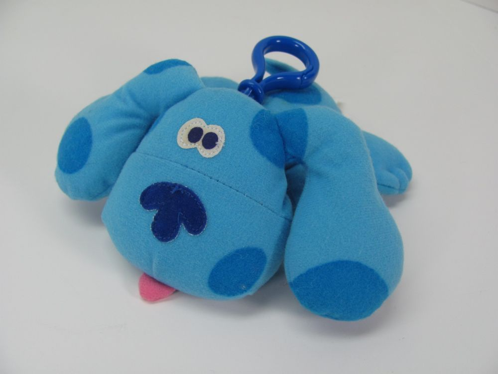Talking BLUES CLUES Puppy Dog CLIP ON Plush Toy by Tyco Plush