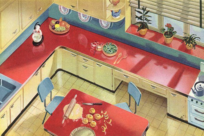 Cuisine En Formica De 1954 Avec Images Cuisine Formica