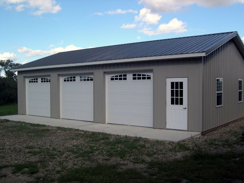 Beautiful Three Car Garage Kits 9 Garage Pole Barn Kit 30 X 50 Neiltortorella Com Pole Barn Garage Barn Garage Barn Door Garage